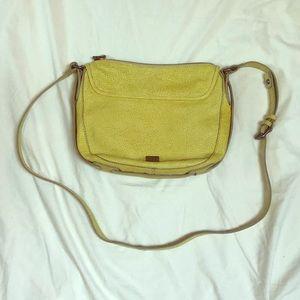kooba Yellow Woven Leather Crossbody Bag